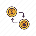 banking, currency, exchange, finance icon