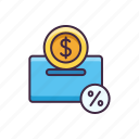 banking, deposit, fixed, money icon