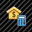 building, estate, home, loan icon