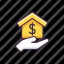 building, estate, home, mortgage icon