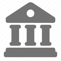 bank, building, business, courthouse, finance, treasury icon