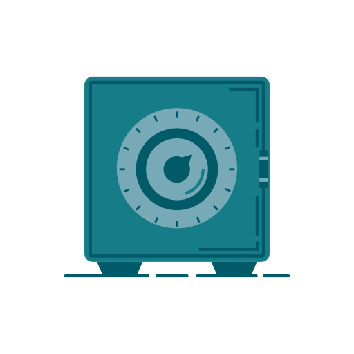 bank, banking, business, graphic, lockers, money, storage icon