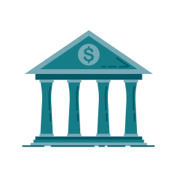 bank, banking, building, business, chart, graphic, money icon