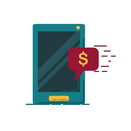 bank, banking, business, communication, graphic, money, smartphone icon