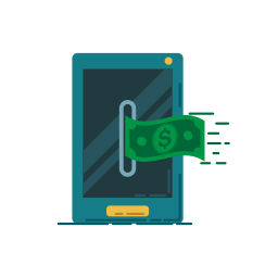 bank, banking, business, currency, graphic, money, smartphone icon