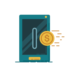 bank, banking, business, graphic, money, point, smartphone icon