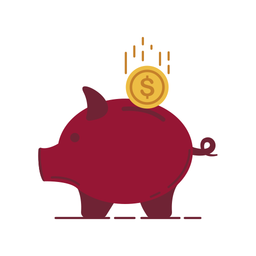 bank, card, chart, graphic, money, piggy, stroke icon