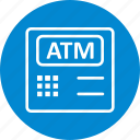 atm, atm machine, bank, banking, cashout icon