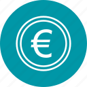 banking, coin, currency, euro, money icon