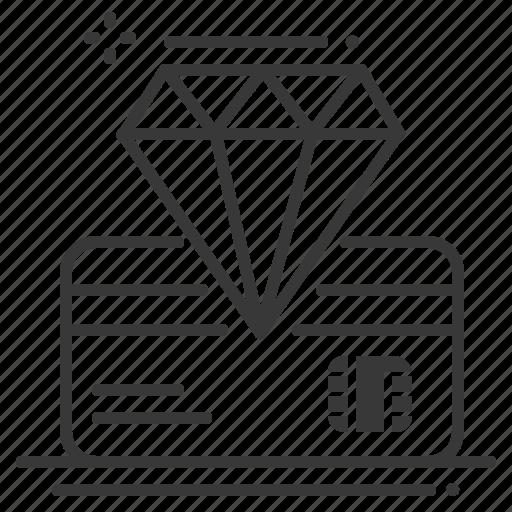 bank card, diamond, premium, vip icon