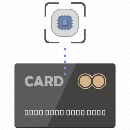 banking, card, chip, nfc, payment, service icon