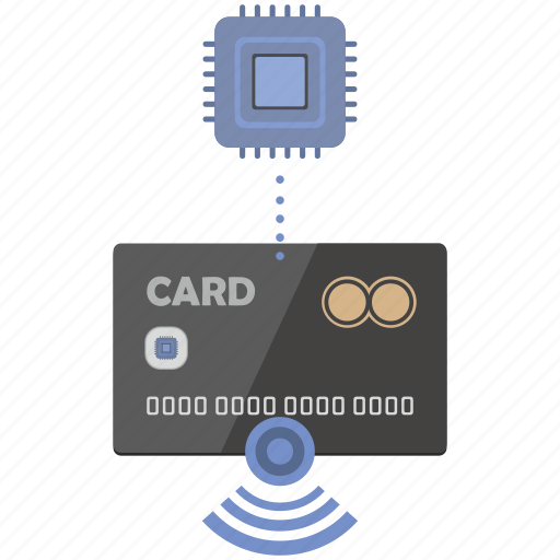 card, chip, credit, nfc, pay, payment, wireless icon