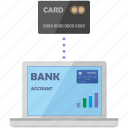 bank, card, chip, connect, credit, internet, nfc icon