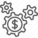 business, cogs, finance, gears, sprockets icon