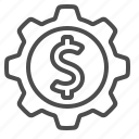 business, cog, finance, gear, money, sprocket icon