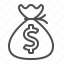 banking, cash, finance, money, money bag, moneybag icon