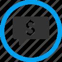 balloon, bid, bubble, dollar, finance, hint, money message