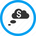 bubble, cloud dreams, clouds, dream, money, rich, richness icon