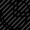 chart, graph, pie, pie icon icon