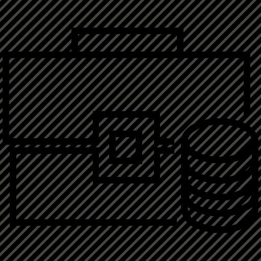 breifcase, business, finance, investment, portfolio, transaction icon