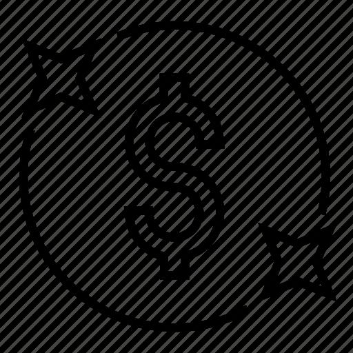 coin, dollar rate, dollar value, finance, market value, usd icon