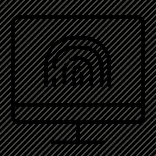 fingerprint protected, internet banking, mobile banking, secure banking, secure payment, secure transaction icon