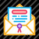 bankruptcy, company, envelope, letter, office, seal, shop