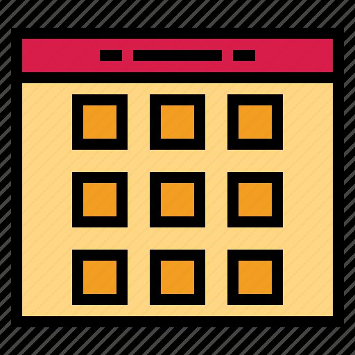 calendar, date, organization, time icon