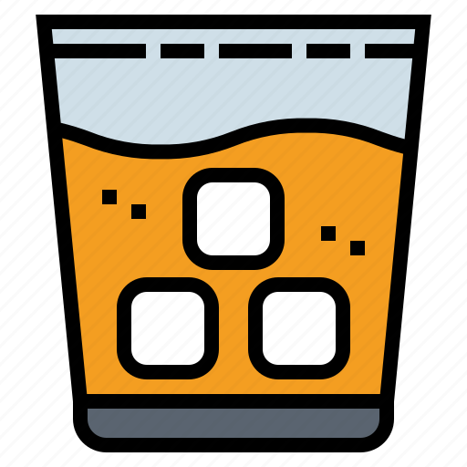 Alcohol, glass, ice, whiskey icon - Download on Iconfinder