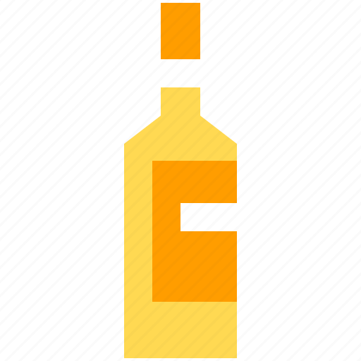 alcohol, bottle, drink, white, wine icon
