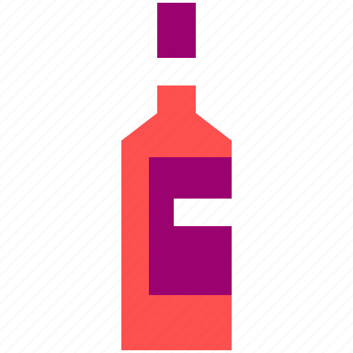 alcohol, bottle, drink, red, wine icon