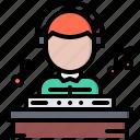 bar, club, dj, melody, music, pub, record icon