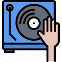 bar, club, controller, hand, music, pub, record