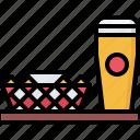 bar, beer, bottle, chips, club, nachos, pub icon