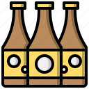 alcohol, bar, beer, bottle, food, label, toast icon