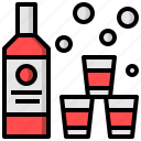 alcohol, and, bottle, food, label, restaurant, vodka icon