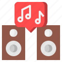 and, disc, food, music, party, restaurant, tools icon