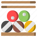 and, billiard, competition, pool, snooker, sports, stick icon