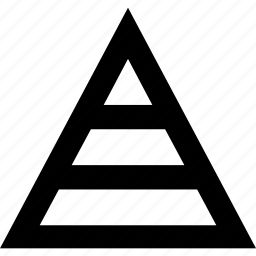 chart, graph, pyramid, triangle icon
