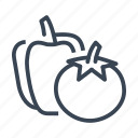 pepper, tomato, vegan, vegetables icon