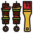 barbecue, bbq, brush, grill, picnic icon
