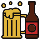 beer, bottle, drink, mug icon