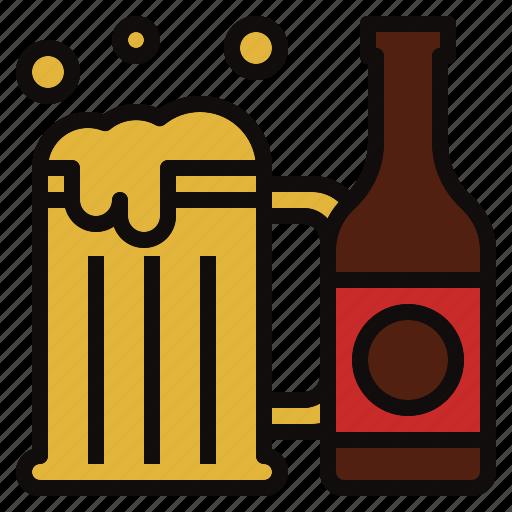 beer, bottle, drink, mug icon