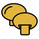 champignon, cook, grill, vegtable icon