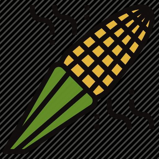 corn, farm, grain, grill, maize icon