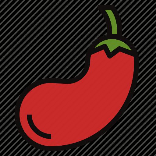 eggplant, fruit, plant icon