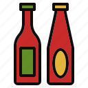 barbecue, bbq, bottle, sauce icon