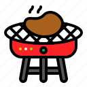 barbecue, barbecue grill, barbeque, bbq, gril, meat icon