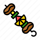 barbecue, bbq, food, meat, skewer, vegetable icon