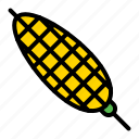 bbq, corn, food, skewer, vegetable icon